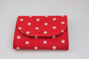 kl Geldbörse Sterne rot aussen